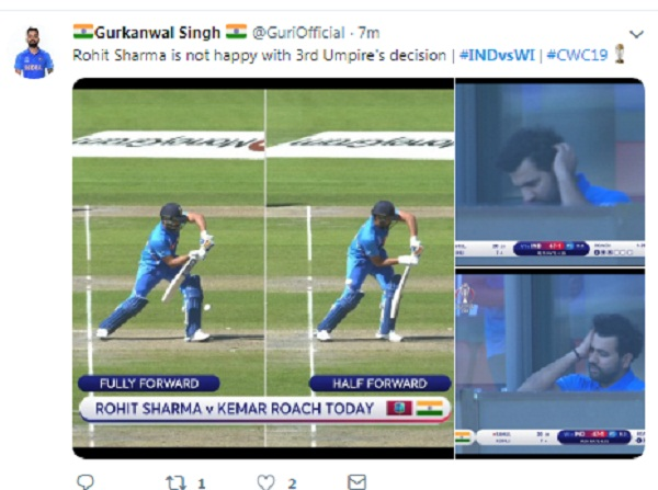IND v WI : Question raise on DRS after rohit dismissal