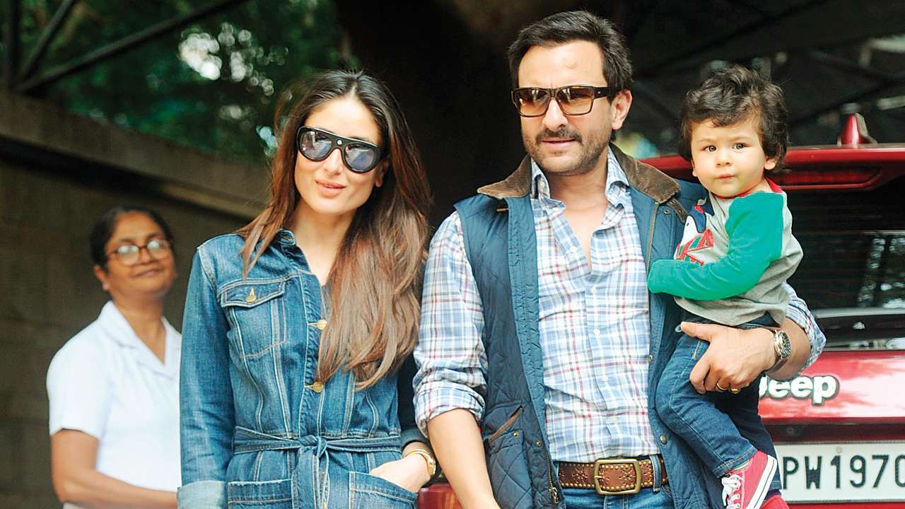 PunjabKesari, taimur ali khan with parents