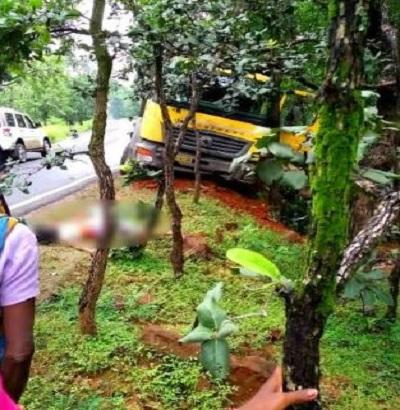 PunjabKesari, Madhya Pradesh News, Singrauli News, Road accident, Highway, Bike, 3 deaths, Police, Sarai police station area