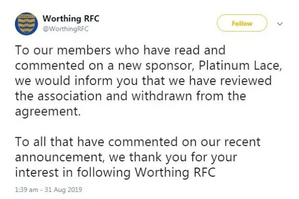 Strip club sponsors rugby team, fans Trolled team management