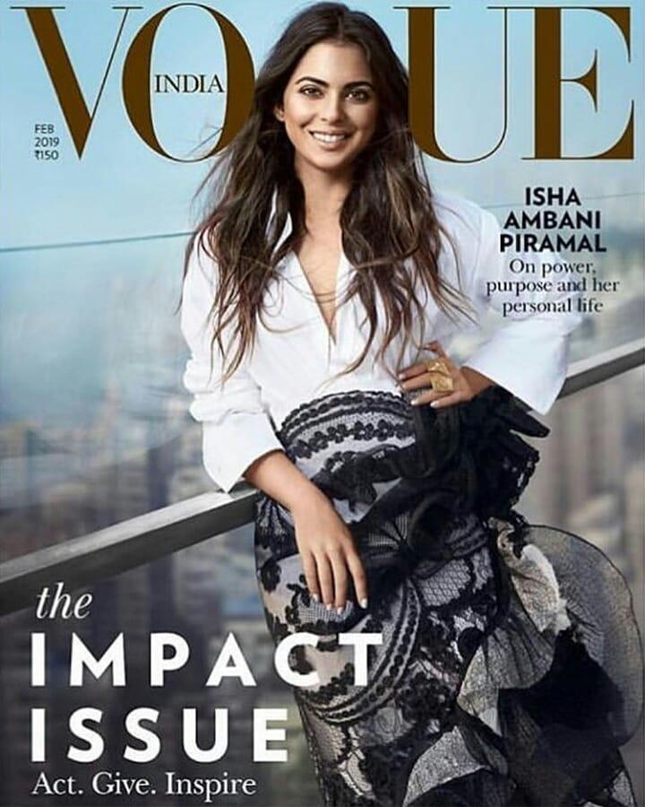 PunjabKesari, Nari, Isha Ambani Vogue Photoshoot