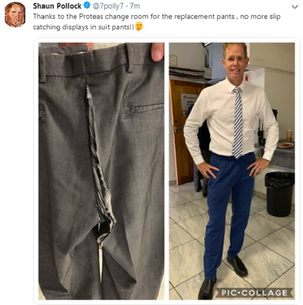 Shaun Pollock share hilarious picture of his pants during SA vs PAk match
