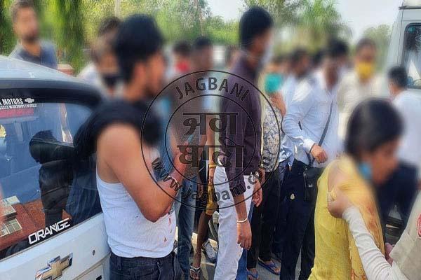 PunjabKesari, young man was attacked with a sharp weapon