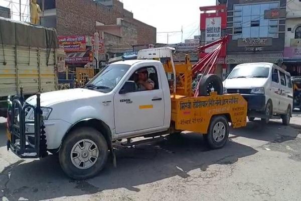 PunjabKesari, Police, Traffic, Driver .