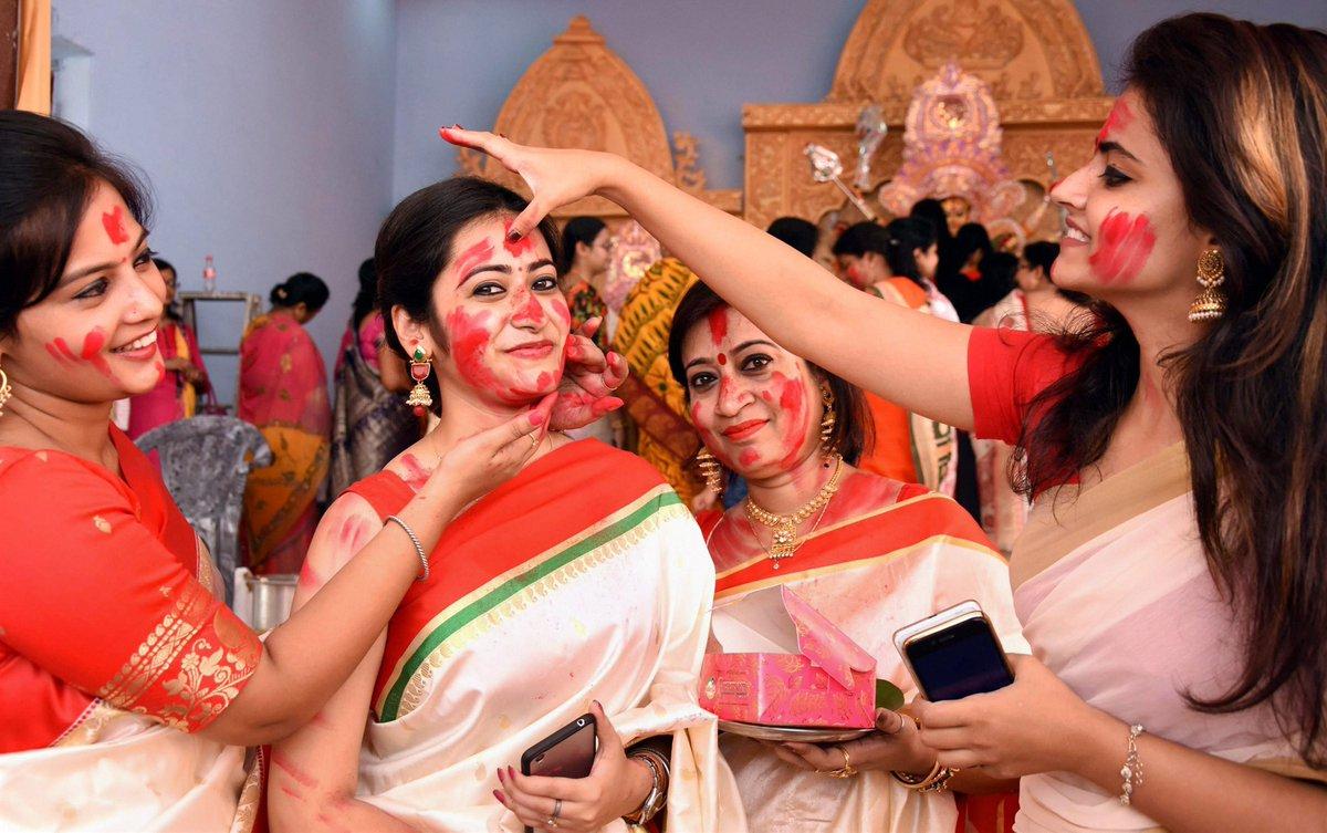 PunjabKesari, Punjab Kesari, Dharam, Sindur khela, सिंदूर खेला