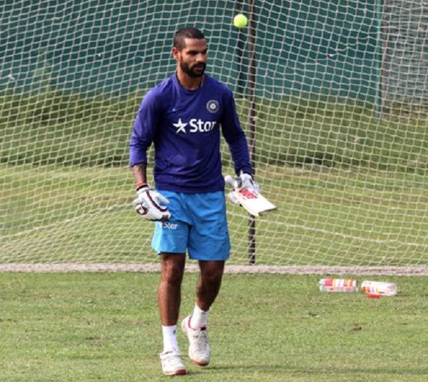 Shikhar Dhawan share practise video on hit twitter account