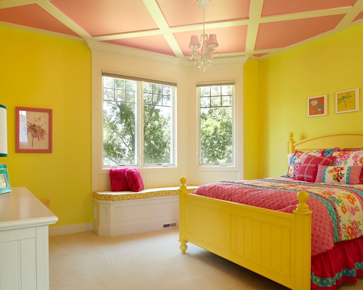 PunjabKesari,Yellow Living Rooms , Yelloe Color Decor, Wall Decoration, Nari