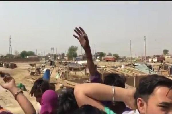 PunjabKesari, rally, Slum, Police, Loksabha, election