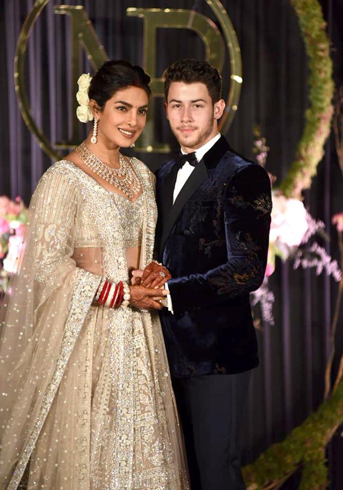 PunjabKesari,Priyanka Chopra Reception Dress, White wedding dress, Nari