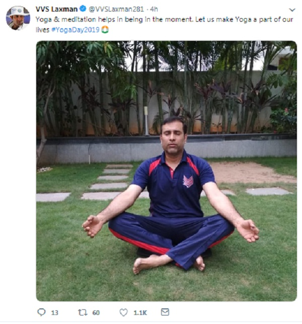 Gautam Gambhir take little pinch on Yoga day