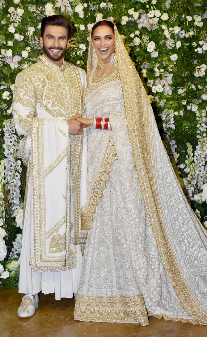PunjabKesari, deepika padukone Reception Dress, White Wedding dress, nari