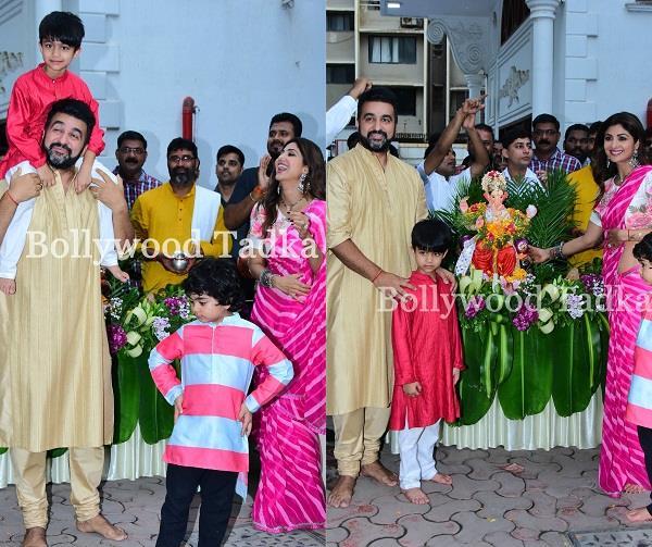 परिवार के साथ शिल्पा ने नाचते हुए किया गणपति विसर्जन, खूबसूरत तस्वीरें आईं सामने