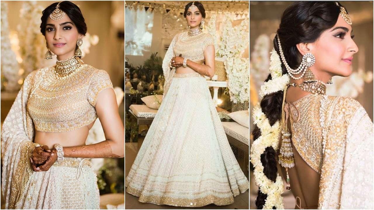 PunjabKesari, Sonam kapoor Ahuja Mehendi Dress, White Wedding dress