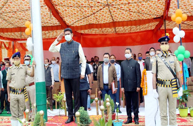 PunjabKesari, Minister Rakesh Pathania Image