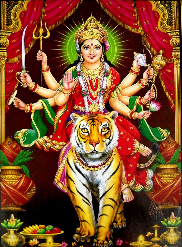 PunjabKesari, Lion And devi Durga, Story of Devi Durga and Lion, Shardiya Navratri, Shardiya Navratri 2020, Devi Durga, Goddess Durga, Devi Durga Mantra, Mantra of Devi Durga, Worship of Devi Durga, Worship Mantra of Devi Durga, Navratri, Navratri 2020