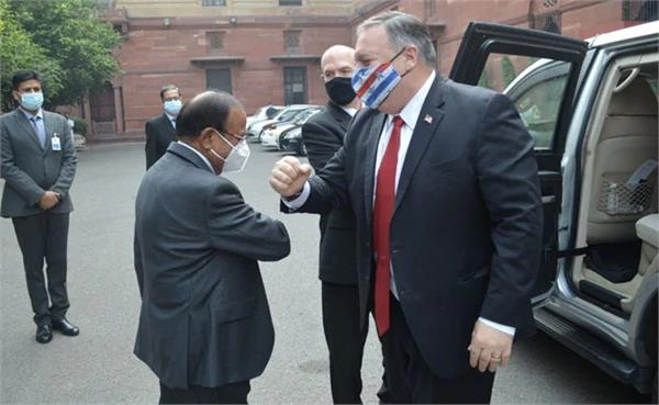 ajit doval welcomed us secretary of state in this  special style
