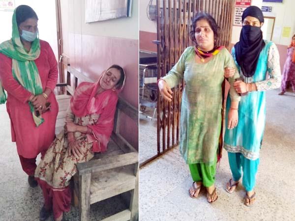 मंडी के धर्मपुर में पाइप लाइन फटने से आई बाढ़, 2 महिलाएं घायल