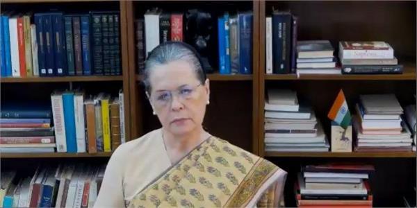 sonia gandhi said attack on modi government said all powers are limited to pmo