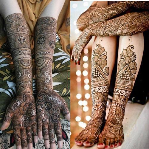 PunjabKesari, इंडियन मेहंदी डिजाइन इमेज,Indian Mehndi Design for Legs and Foot, इंडियन मेहंदीडिजाइनफॉर लेग्सएंड फुट