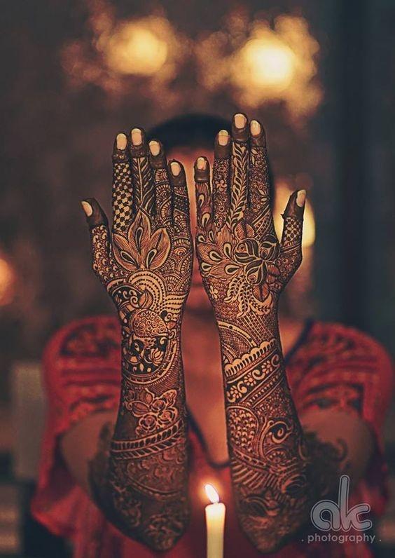 PunjabKesari, इंडियन मेहंदी डिजाइन इमेज,Indian Mehndi Design For Back hand,इंडियन मेहंदी डिजाइन फॉर बैक हैंड