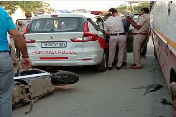 PunjabKesari, Accident, young, man CCTV, Police