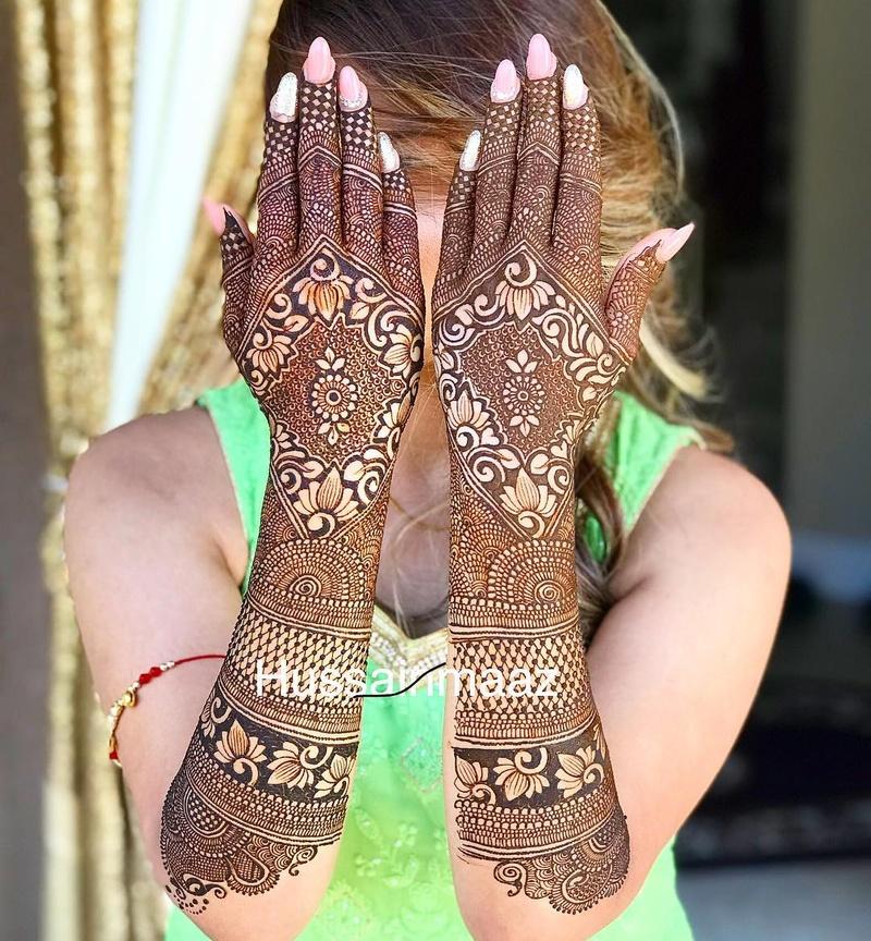PunjabKesari,इंडियन मेहंदी डिजाइन इमेज,Indian Mehndi Design Full Back Hand, इंडियन मेहंदी डिजाइन फुल बैक हैंड