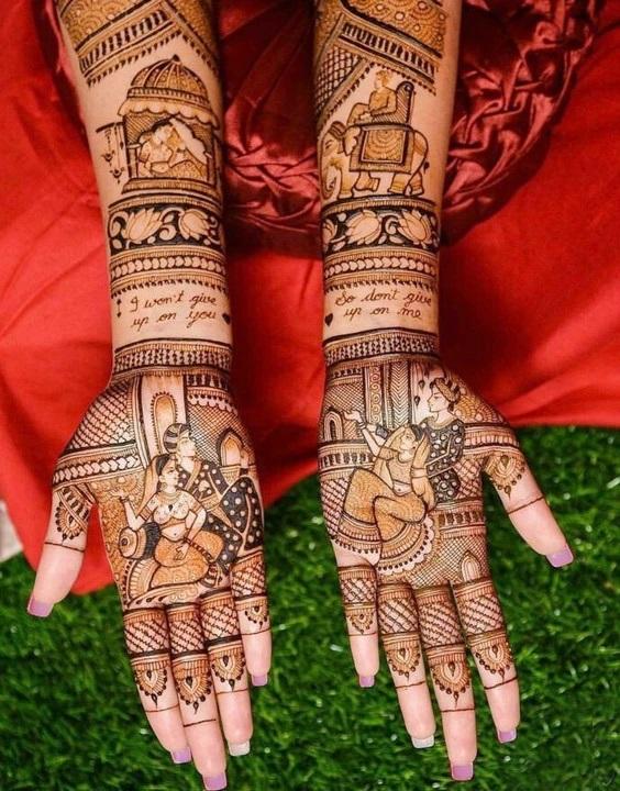 PunjabKesari, इंडियन मेहंदी डिजाइन इमेज,Indian Mehndi Design For Front Hand,इंडियन मेहंदी डिजाइन फॉर फ्रंट हैंड