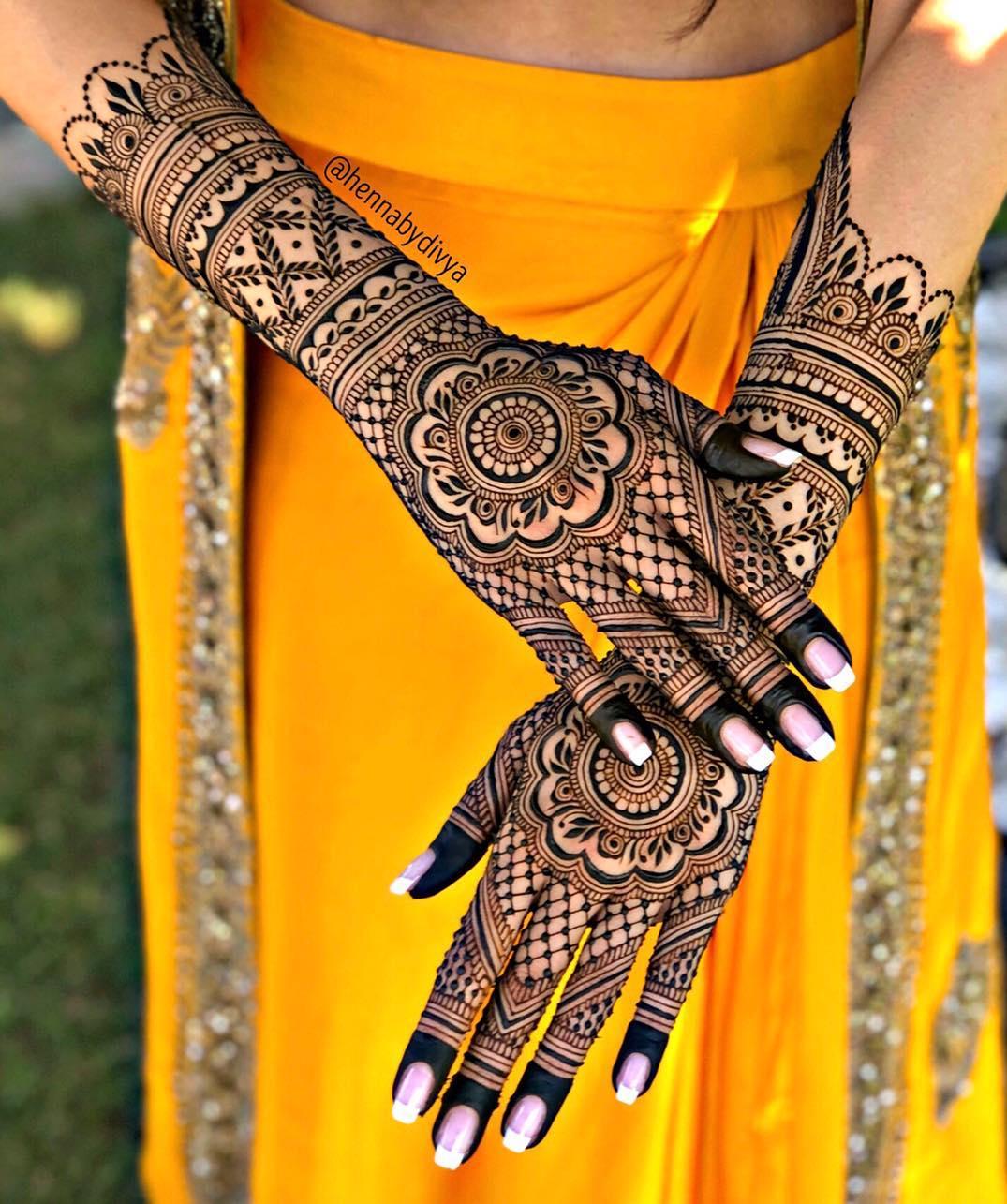 PunjabKesari, इंडियन मेहंदी डिज़ाइन इमेज, Indian Bridal Mehndi DesignFor BackHand, इंडियन मेहंदी डिजाइन फॉर बैक हैंड