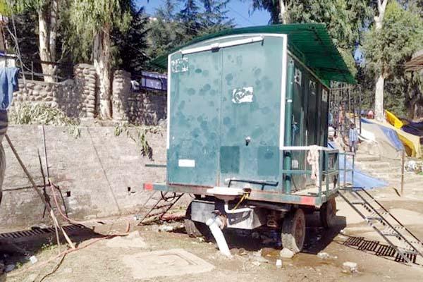 PunjabKesari, Temporary Toilet Image