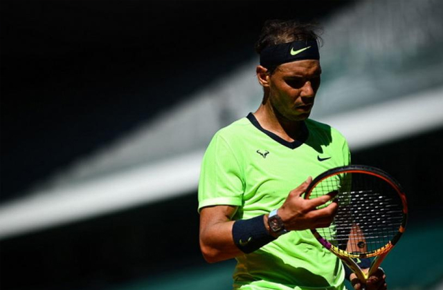 French Open, Rafael Nadal, Celebrates, Tennis news in hindi, sports news, Rafael Nadal 35th birthday, राफेल नडाल