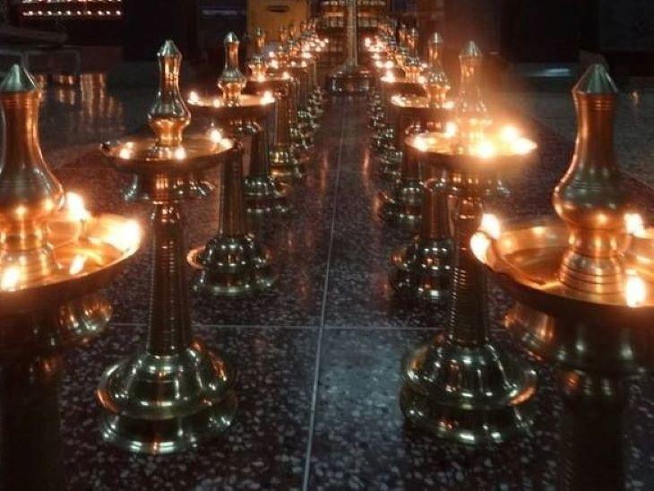 PunjabKesari, Kerla Temple, 1248 Temple,  तांबा-पीतल के दियों, Tonnes of brass utensils and lamps, Lockdown, Coronavirus, Covid 19, Dharmik Sthal, Religious Place in india