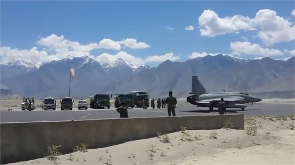 chinese fighter aircraft spotted at skardu airbase in pok