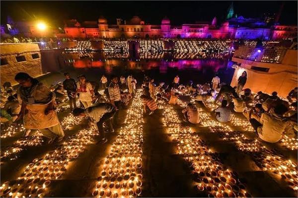 ayodhya created history jagamgai ram nagari with 5 51 lakh lamps