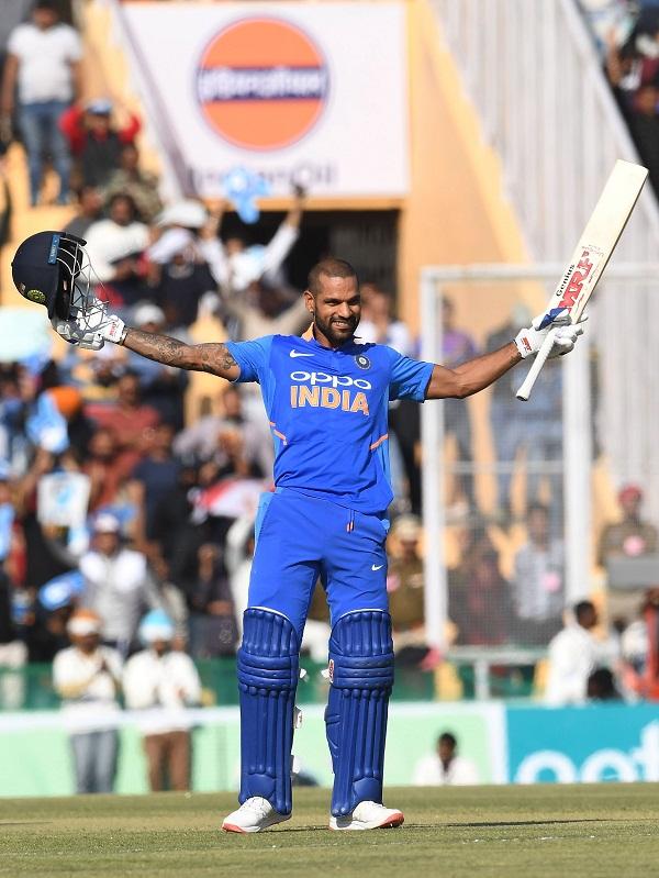 Shikhar dhawan break virender sehwag 15th hundred record in ODI