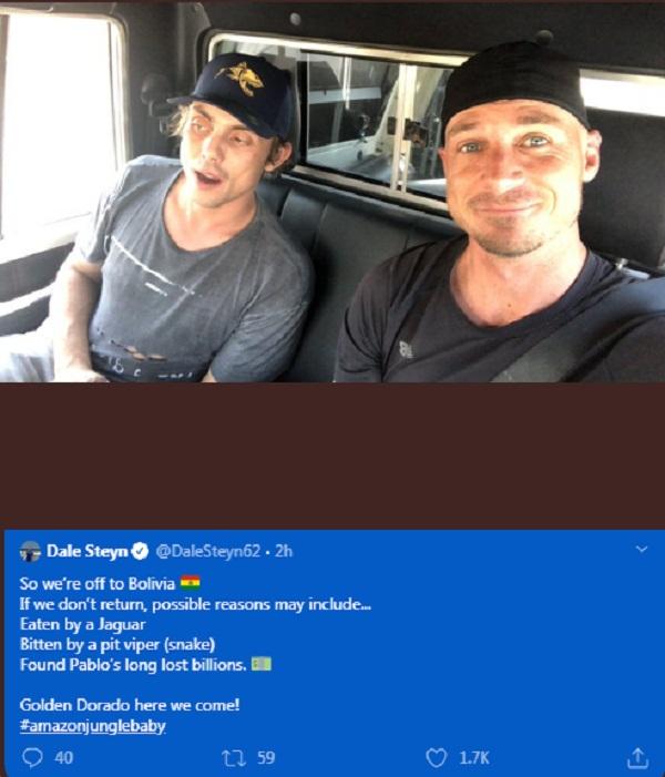 Dale Steyn latest tweet gone viral - Eaten by a Jaguar