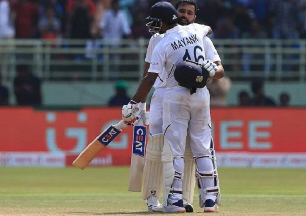 Mayank Agarwal's first statement came after hitting double century