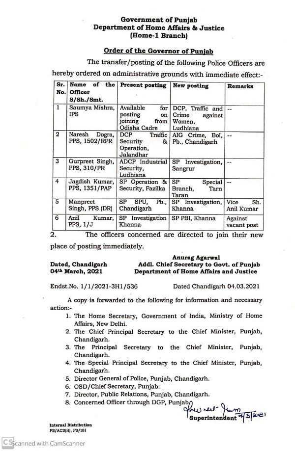PunjabKesari, DCP of Jalandhar Including these transfers