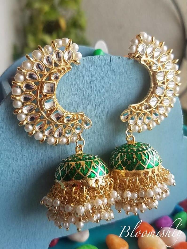 PunjabKesari,Jhumka with Covering Ear Image,झूमका विद कवरिंग ईयर इमेज