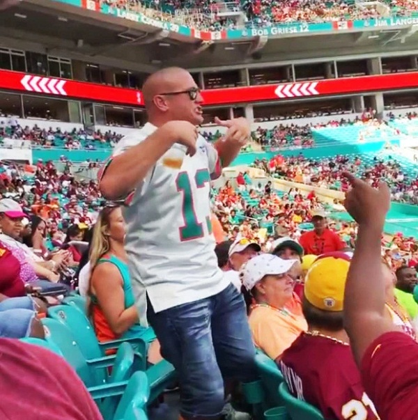 NFL fan abuses porn star Valentina Jewels during NFL