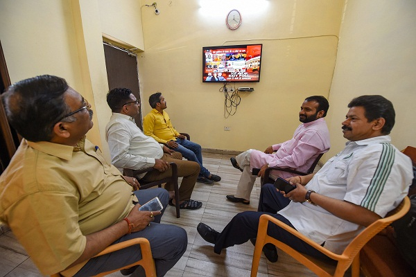 excitement in the bjp camp by the results of exit polls