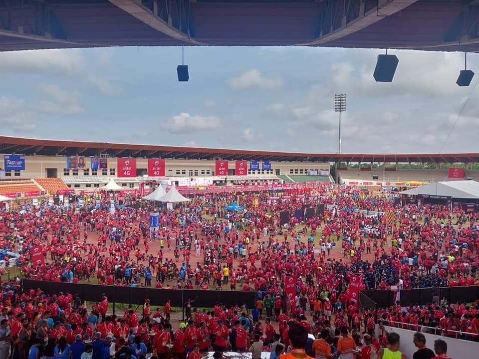 PunjabKesari, Hyderabad Marathon race, IAS Ashish Sangwan, Sub Division SDM, Berasia, Bhopal News, Madhya Pradesh News, PunjabKesari News