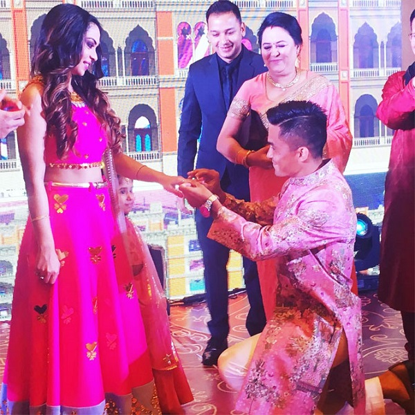 Sunil Chhetri with Wife Sonam