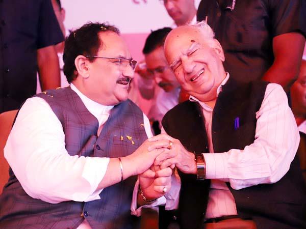 PunjabKesari, JP Nadda And Shanta Kumar Image