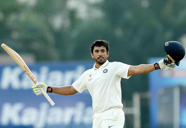 Karun nair dedicated his 166 runs innings to his fiance