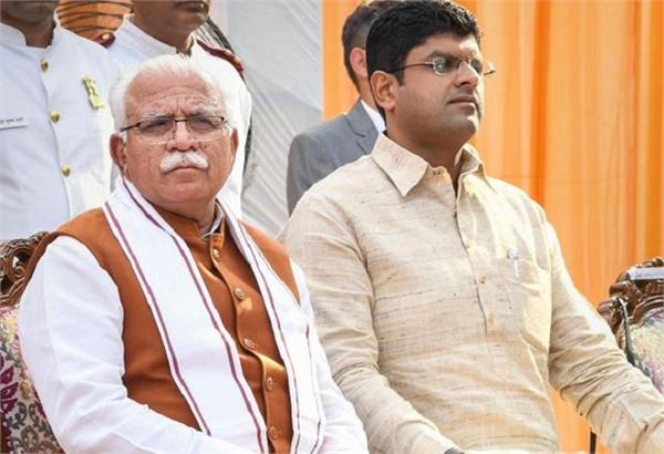 cm khattar s wrote a special message for dushyant chautala