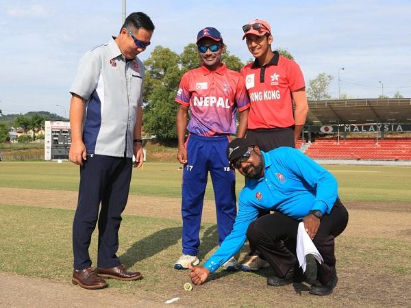 Nepal vs Hongkong Toss inccident