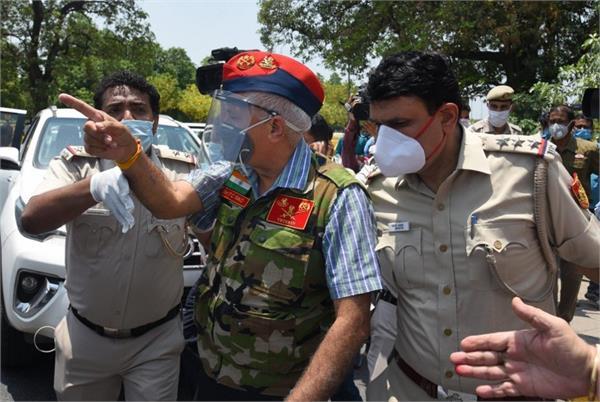 ex servicemen demonstrations near chinese embassy