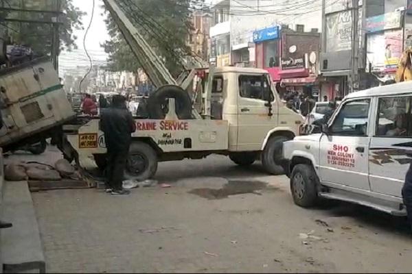 PunjabKesari, police, crime, municipal, firing, team