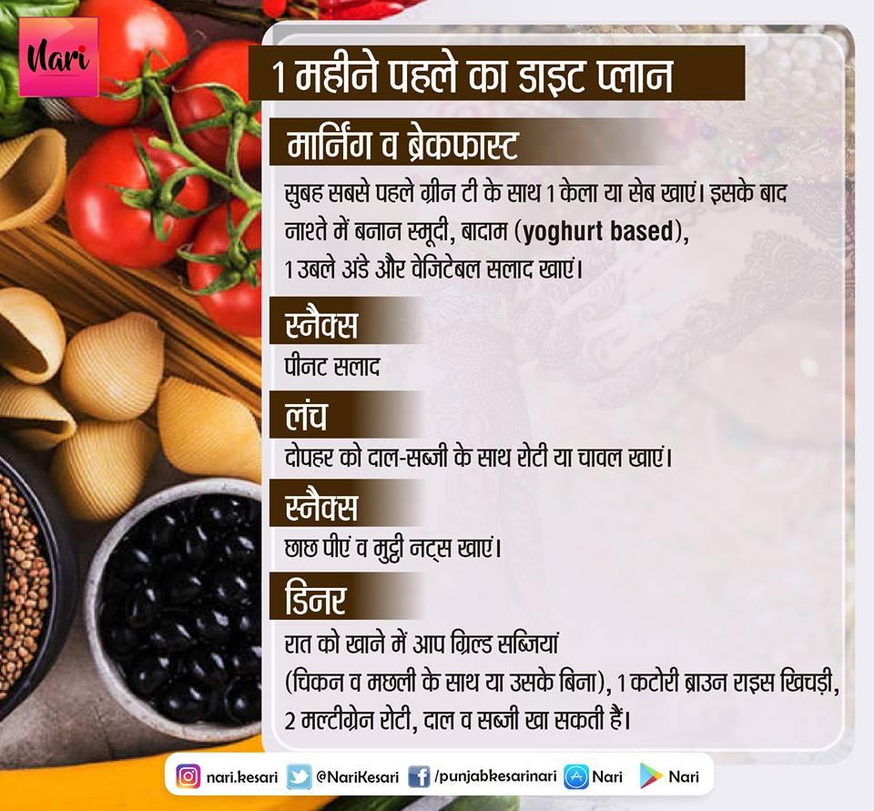 PunjabKesari, 1 month Pre-wedding Diet, Nari