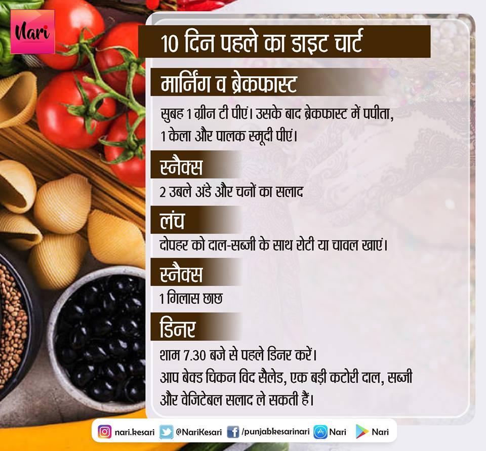 PunjabKesari, Pre Wedding Diet for 10 days, Nari